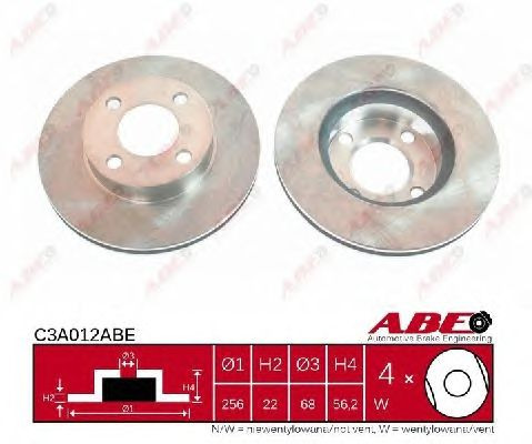 Тормозной диск ABE C3A012ABE