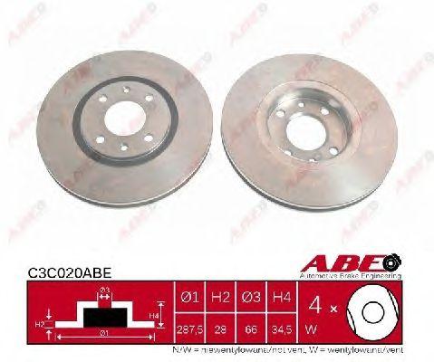 Тормозной диск ABE C3C020ABE