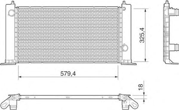 Радиатор, охлаждение двигателя MAGNETI MARELLI 350213189000