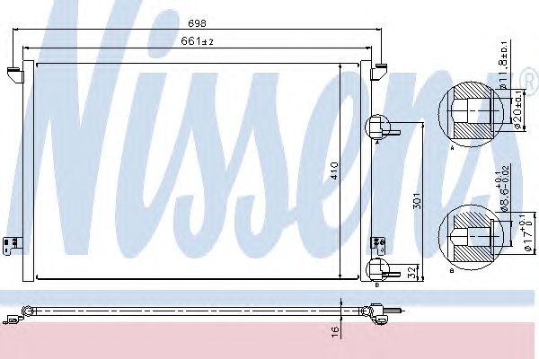 Радиатор кондиционера NISSENS 940320