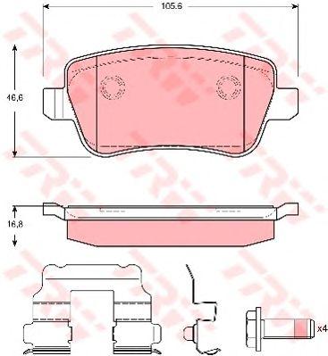 Тормозные колодки TRW GDB1637