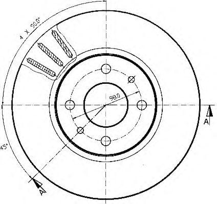 Тормозной диск QH International BDC4628