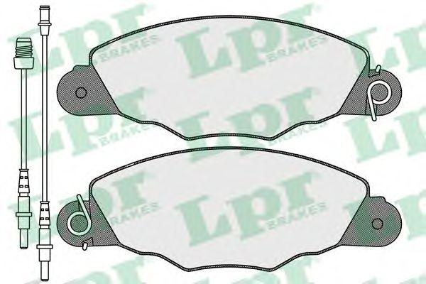 Тормозные колодки LPR 05P1103