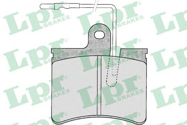 Тормозные колодки LPR 05P241