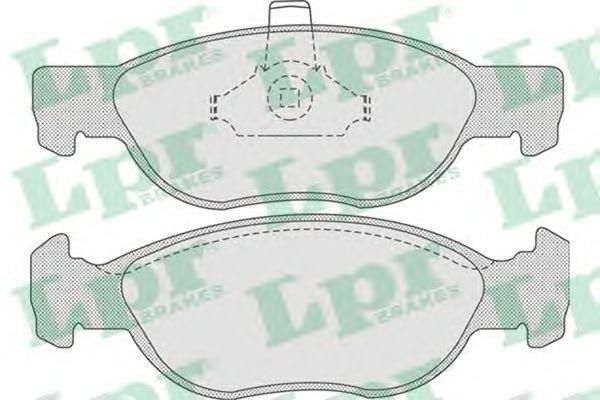 Тормозные колодки LPR 05P740