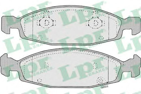 Тормозные колодки LPR 05P840