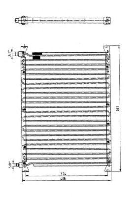 Радиатор кондиционера NRF 35064
