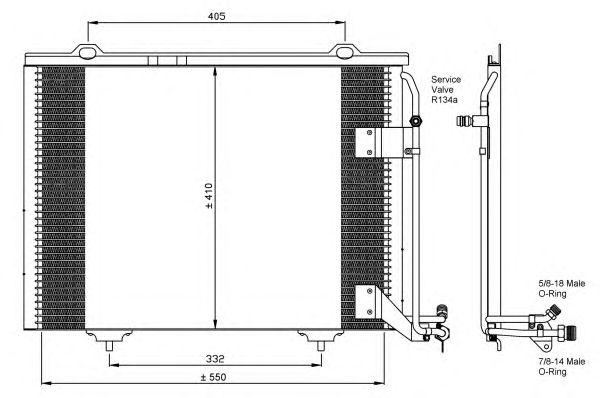 Радиатор кондиционера NRF 35463