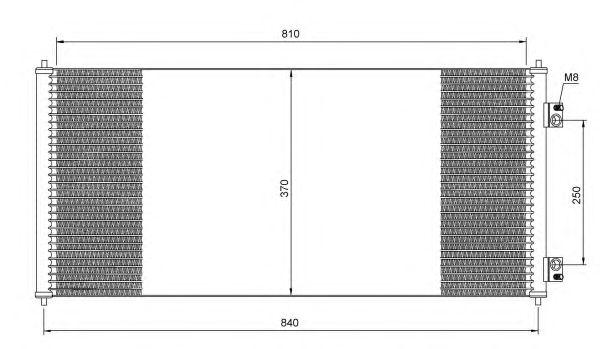 Радиатор кондиционера NRF 35651