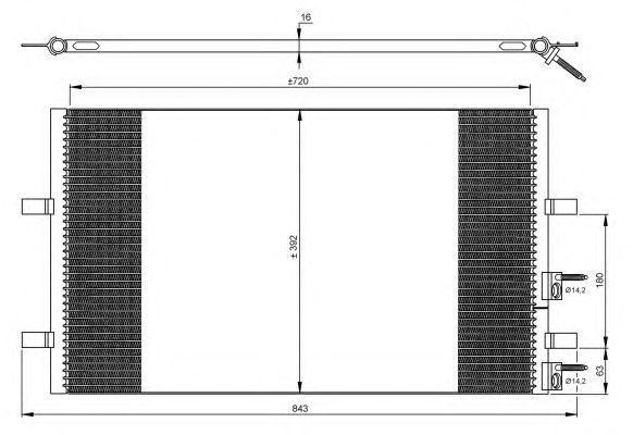 Радиатор кондиционера NRF 35846