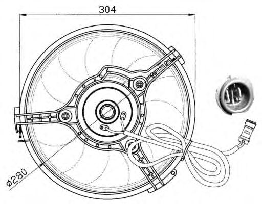 Вентилятор охлаждения NRF 47023