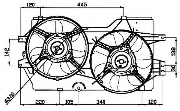 Вентилятор охлаждения NRF 47031