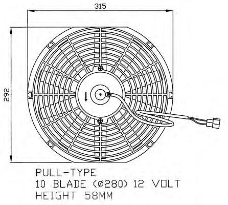 Вентилятор охлаждения NRF 47060