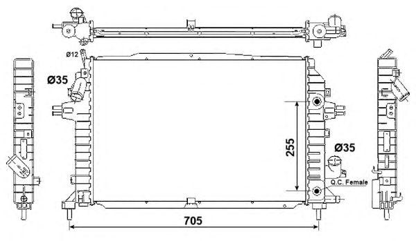 Радиатор, охлаждение двигателя NRF 53082