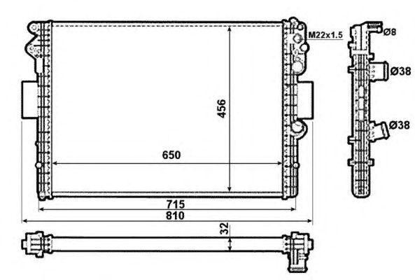 Радиатор, охлаждение двигателя NRF 53612