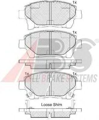 Тормозные колодки A.B.S. 37738
