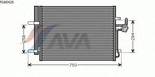 Радиатор кондиционера AVA QUALITY COOLING FDA5428
