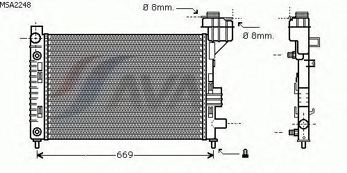 Радиатор, охлаждение двигателя AVA QUALITY COOLING MSA2248
