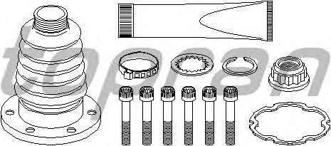 Комплект пыльника ШРУСа TOPRAN 108 215