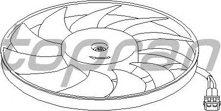 Вентилятор охлаждения TOPRAN 110 690