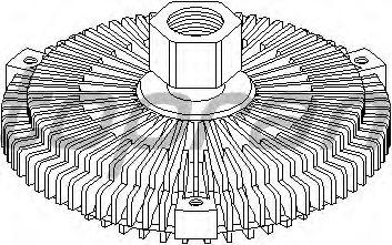 Вязкостная муфта вентилятора охлаждения TOPRAN 500 864