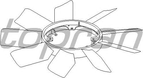 Крыльчатка вентилятора охлаждения TOPRAN 401 001