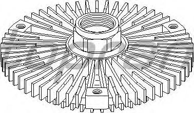 Вязкостная муфта вентилятора охлаждения TOPRAN 401 187