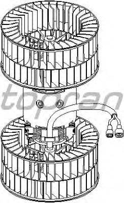 Вентилятор отопителя TOPRAN 401 602