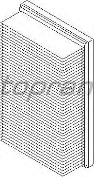 Воздушный фильтр TOPRAN 700 413