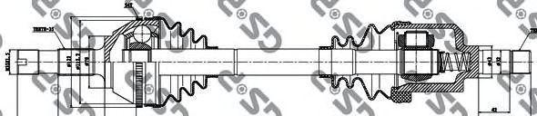 Приводной вал GSP 210033
