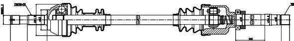 Приводной вал GSP 210103