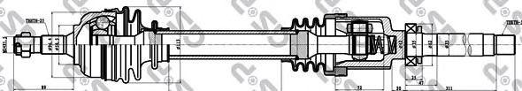 Приводной вал GSP 210208