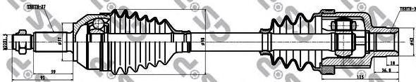 Приводной вал GSP 218005