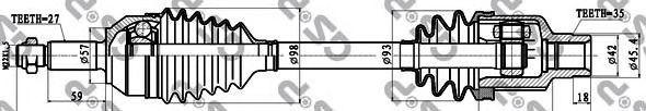 Приводной вал GSP 218028