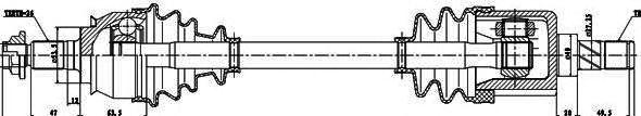 Приводной вал GSP 238001