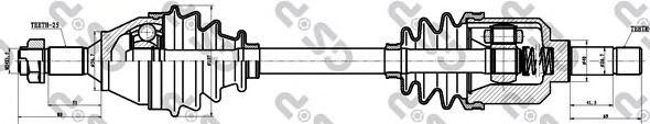 Приводной вал GSP 245003