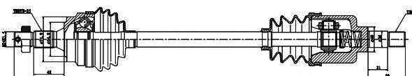 Приводной вал GSP 245021