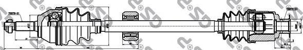 Приводной вал GSP 250205