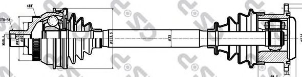 Приводной вал GSP 261085