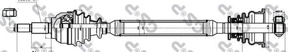 Приводной вал GSP 250446