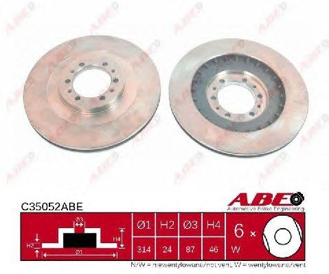 Тормозной диск ABE C35052ABE
