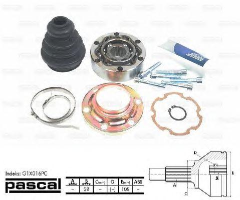 Комплект ШРУСов PASCAL G1X016PC