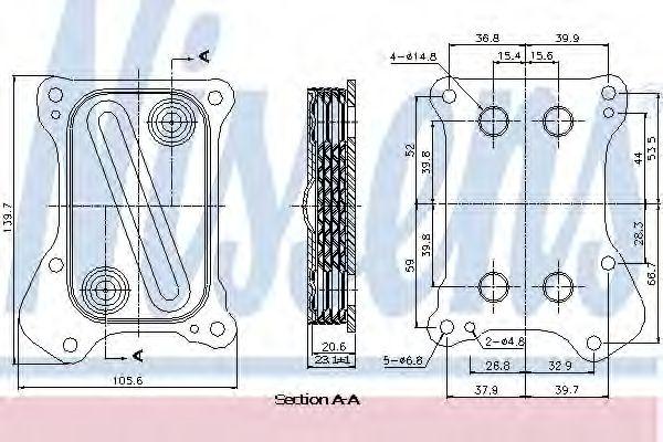 Масляный радиатор NISSENS 90700