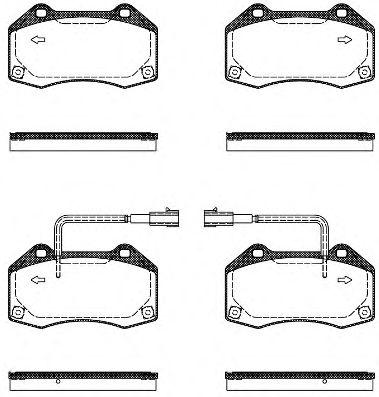 Тормозные колодки REMSA 1113.10