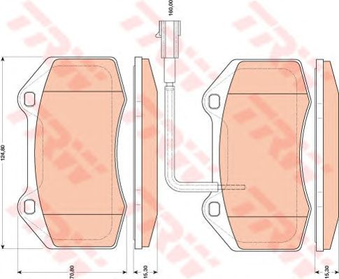 Тормозные колодки TRW GDB1812