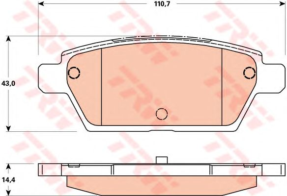 Тормозные колодки TRW GDB3517