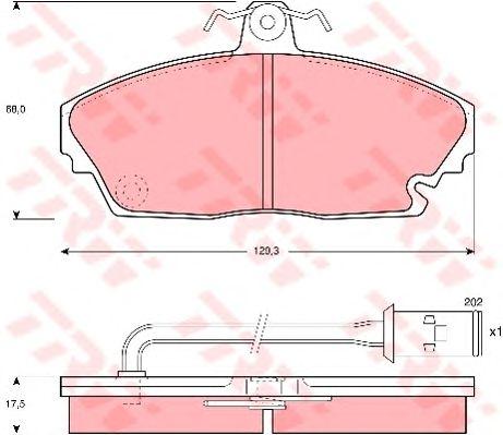 Тормозные колодки TRW GDB479