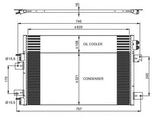 Радиатор кондиционера NRF 350031