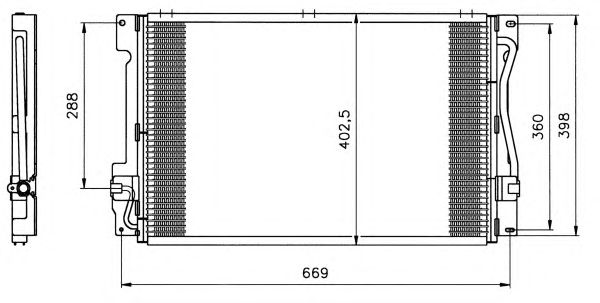 Радиатор кондиционера NRF 35151