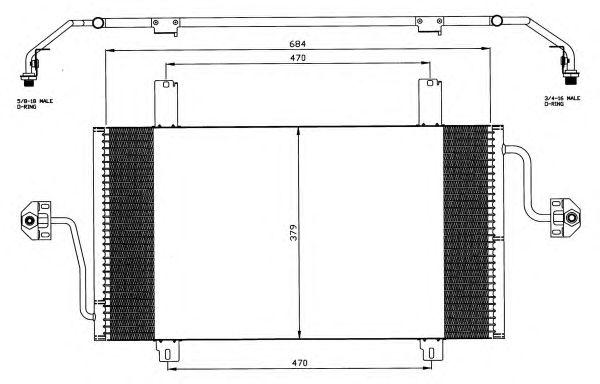 Радиатор кондиционера NRF 35483
